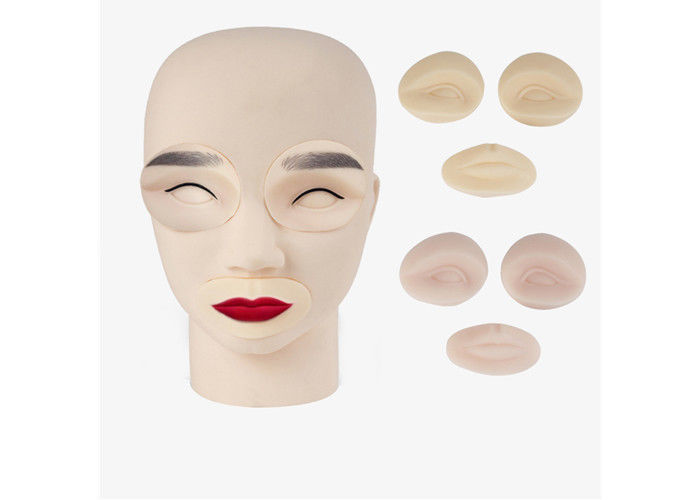 Emulsion Material Tattoo Practice Skin 3D Effect Silicone Head Model